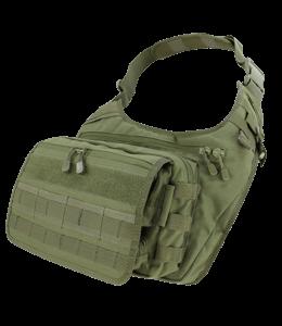 Olive colored backpack