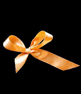 Orange Ribbon Knot