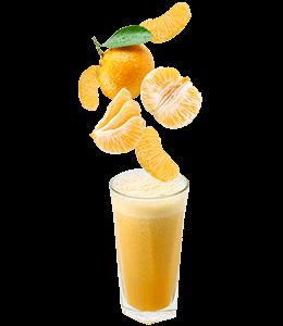 Orange soft juice in glass
