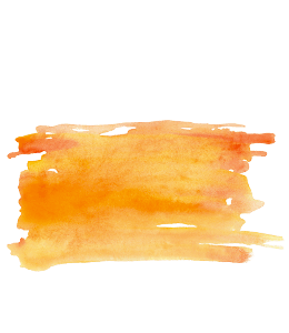 Orange watercolour brush strokes