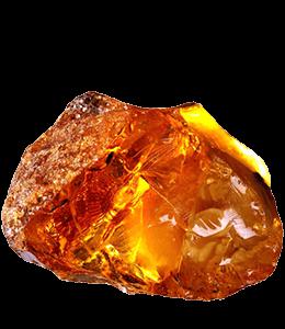piece of orange amber