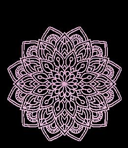 Pink-purple mandala (rangoli) design