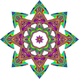 Psychedelic icon with lots of colors