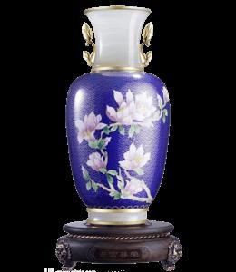 Purple Chinese vase