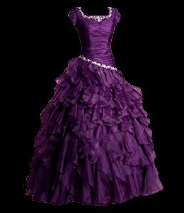 Purple Colored Party Vintage Dress