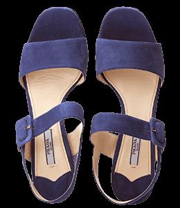 Purple navy Prada shoes