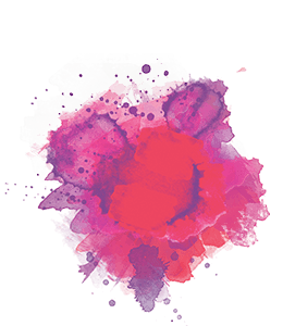 Red and Purple Ink Splash