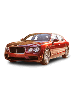 Bentley Red colored luxury car
