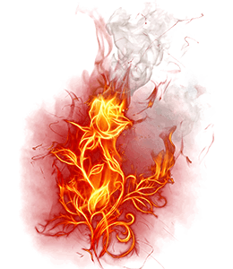 Red-coloured fire