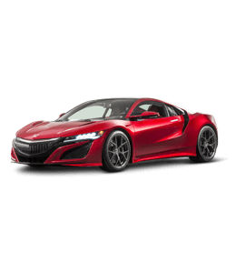 Red Honda car with a futuristic design