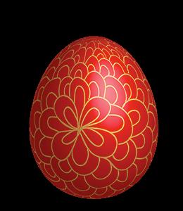 Red Gold Easter Egg