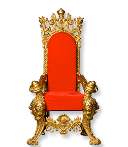Red Throne King Chair