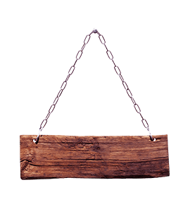 Red Wood Sign Plank