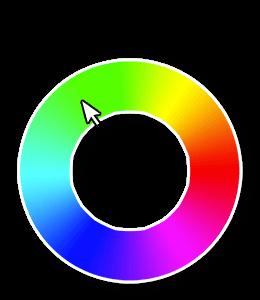 Green selected on RGB Wheel