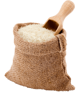 Rice in a bag