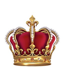 Royal red-colored crown