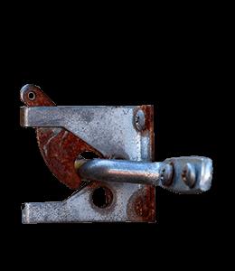 Rusty metal silver