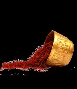 Saffron in Golden Bowl