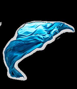 Silk Blue Textile Flying