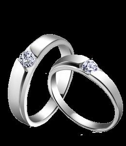 Pair of silver rings