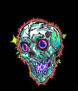 Skull Psychedelic art