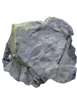 Rock of slate gray color