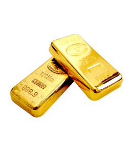 Solid gold bars