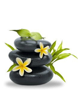 Spa stones and flowers for relaxation