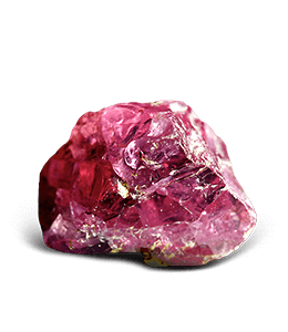 Thulite crystals