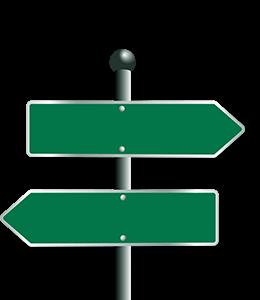 Traffic Green Signage