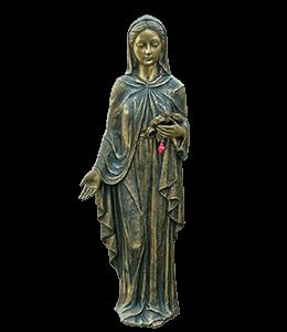 Virgin Mary Bronze Statue